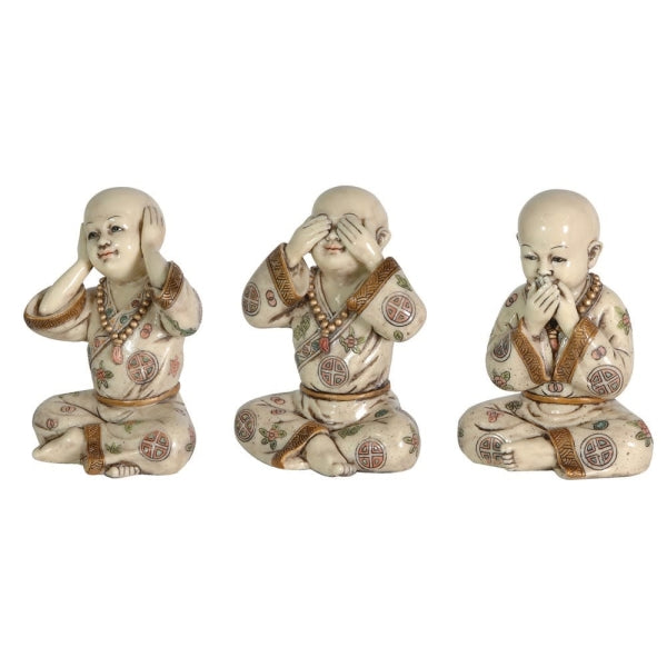 Decorative Set of Three 'See No Evil' Figures 16cm | Annie Mo's