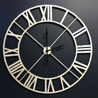 White Metal Outline Clock 122cm