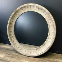 Round Patterned Wall Mirror 148cm | Annie Mo's