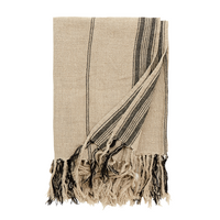 Natural Linen Striped Blanket