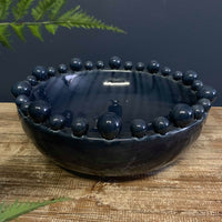Emmerdale Dark Blue Bowl with Balls on Rim
