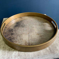 Gold World Map Tray