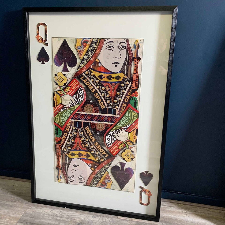 Large Queen of Spades Collage 145cm High | Annie Mo's
