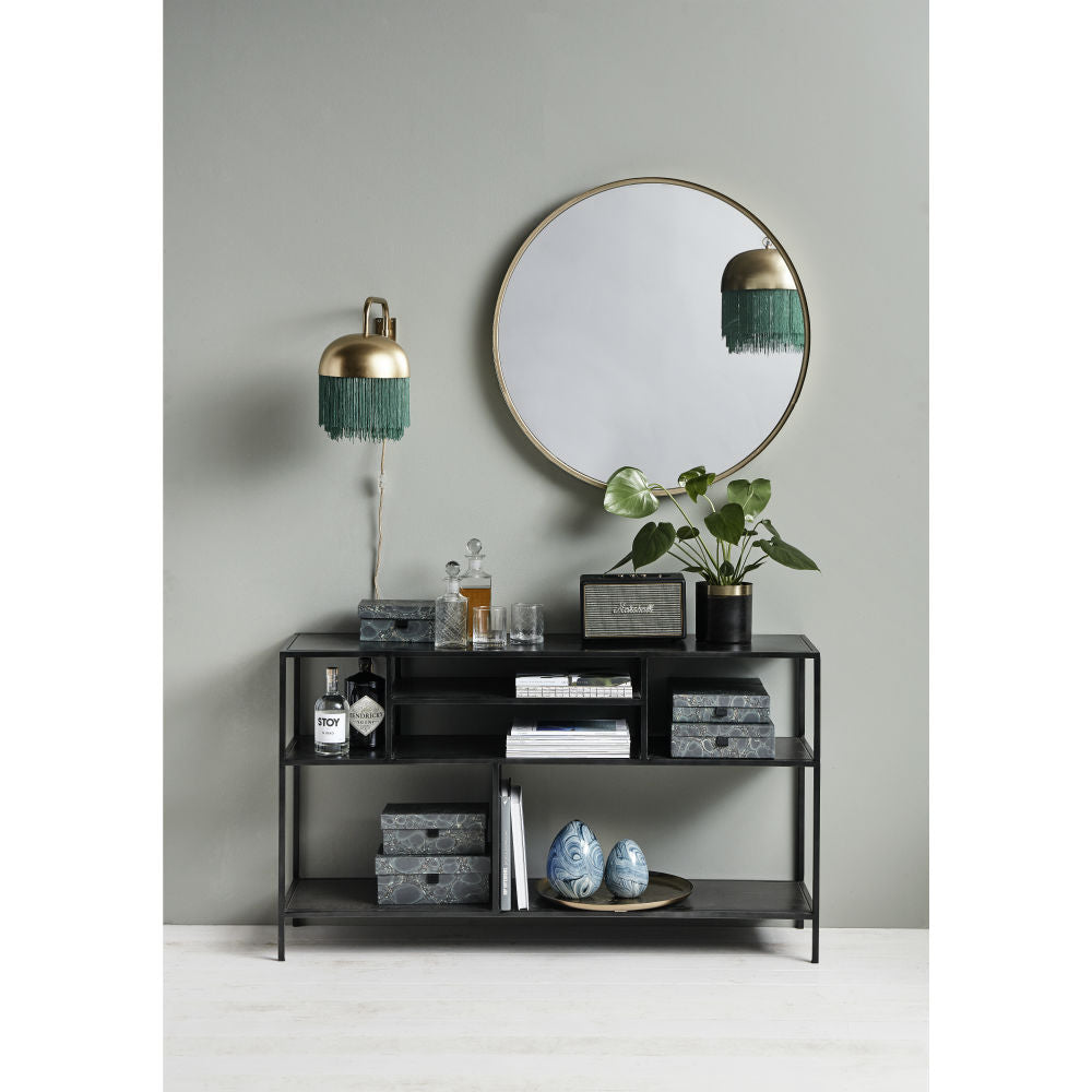 Display Rack, Long, Black Iron | Annie Mo's