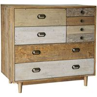 Crieff Reclaimed Pine Six Drawer Chest | Annie Mo's