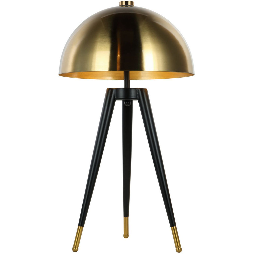 Tripod Table Lamp with Brass Shade 62cm | Annie Mo's