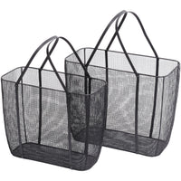 Set of Two Woven Baskets 49cm | Annie Mo's