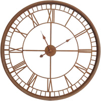 Antiqued Rust Skeleton Wall Clock 80cm | Annie Mo's