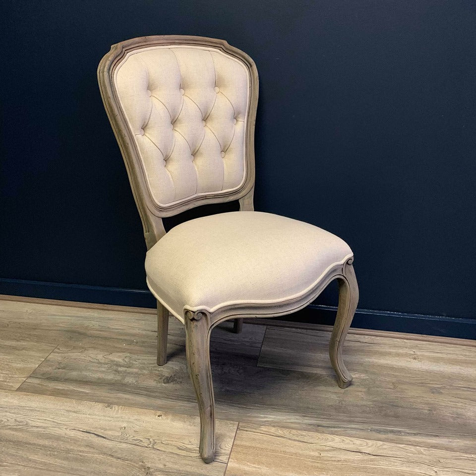 Empire Reclaimed Pine Buttoned Dining Chair
