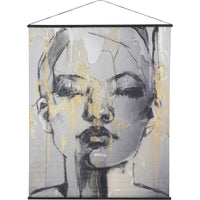 Sketched Female Figure Velvet Hanging Wall Art 170cm | Annie Mo's