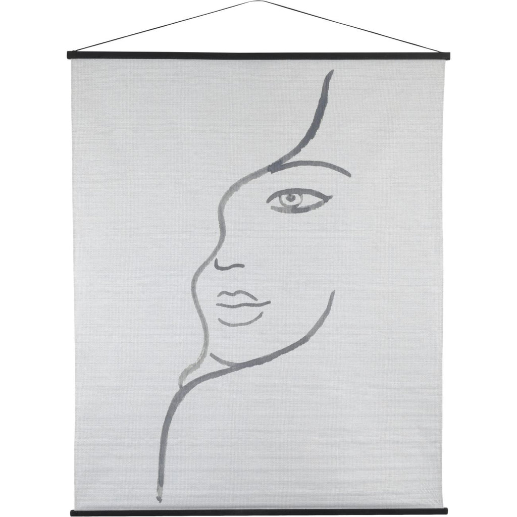Brush and Ink Female Figure Cotton Hanging Wall Art 170cm | Annie Mo's