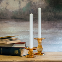 Amber Glass Candle Holders | Annie Mo's
