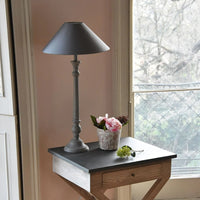 Antique Grey Lamp with Shade 60cm | Annie Mo's
