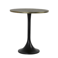 Antiqued Bronze Side Table 53cm | Annie Mo's