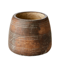 Antiqued Brown Terracotta Vase 14cm | Annie Mo's