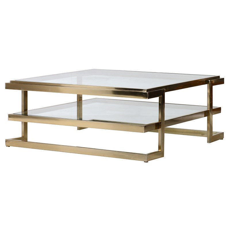 Glass and Gold Effect Coffee Table | Annie Mo's