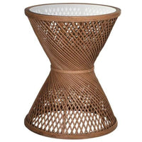Bamboo Criss Cross Side Table 59cm | Annie Mo's