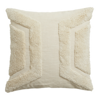 Beautiful Textured Ivory Cushion Cover 45cm x 45cm Style B | Annie Mo's