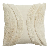 Beautiful Textured Ivory Cushion Cover 45cm x 45cm Style C | Annie Mo's