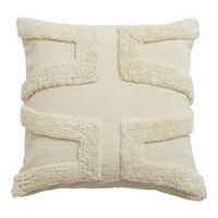 Beautiful Textured Ivory Cushion Cover 45cm x 45cm | Annie Mo's