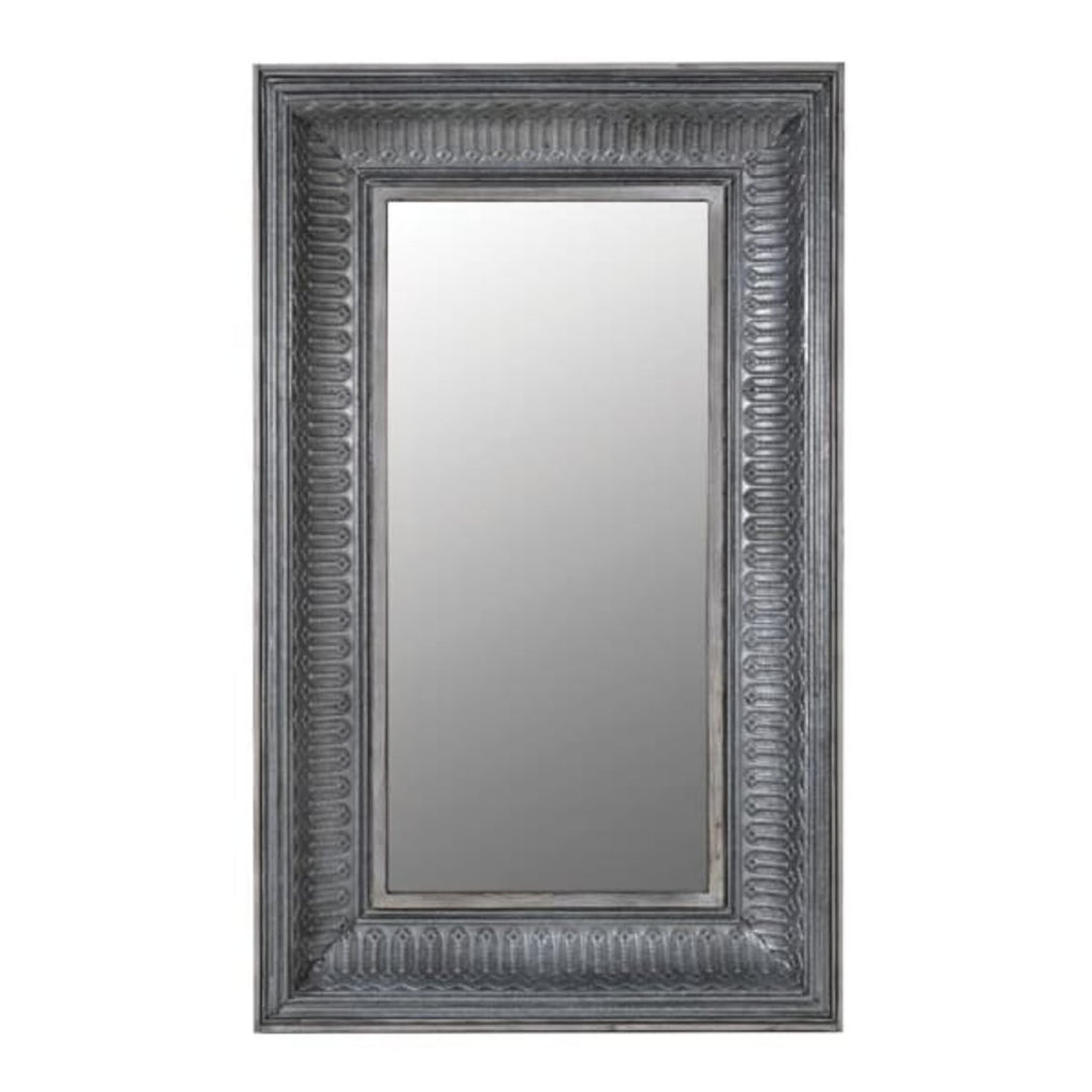 Black Patterned Rectangle Wall Mirror 165cm | Annie Mo's