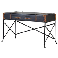 Black Trunk Two Drawer Desk | Annie Mo's