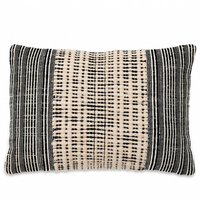 Black and Natural Cushion Cover 40cm x 60cm | Annie Mo's