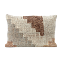 Block Design Textured Cushion 40cm x 60cm | Annie Mo's