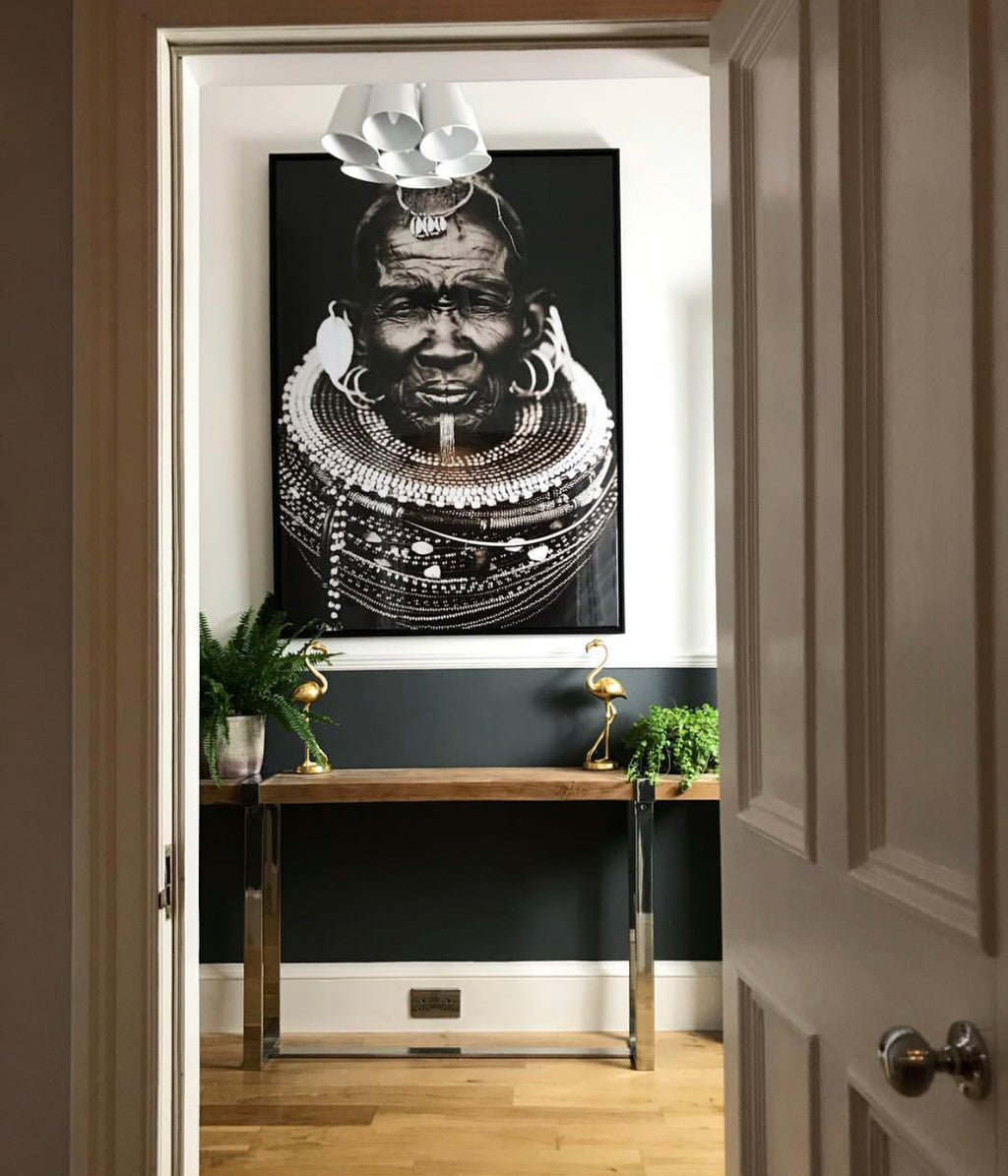 African Tribal Man Picture 145cm | Annie Mo's