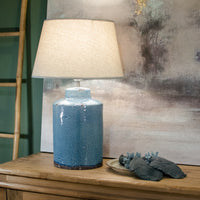 Ceramic Lamp Neptune With Cream Shade 62cm | Annie Mo's