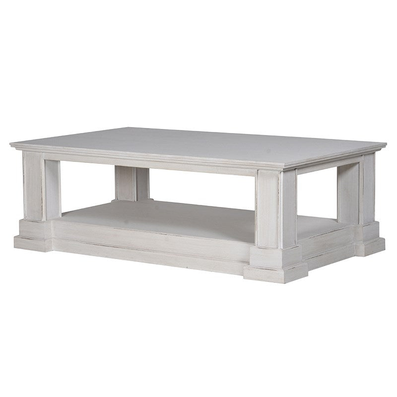 Distressed Grey Washed Coffee Table | Annie Mo's