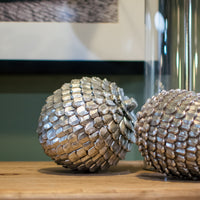 Decorative Silver Effect Pine Cone 15cm | Annie Mo's