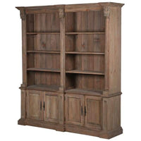 Empire Reclaimed Pine Four Door Bookcase | Annie Mo's