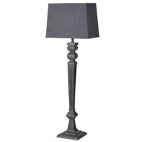 Extra Tall Black Lamp with Grey Shade 113cm | Annie Mo's