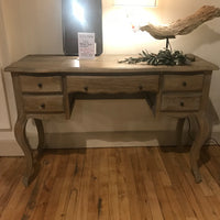 Lille Limed Oak Curved Front Dressing Table