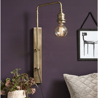 Large Brass Deco Wall Lamp for Bulb | Annie Mo's