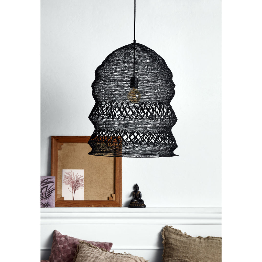 Black Wire Hanging Ceiling Light | Annie Mo's
