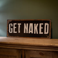 Get Naked Vintage Look Plaque 76cm | Annie Mo's
