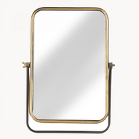 Golden Table Top Mirror 33cm | Annie Mo's
