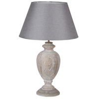 Grey Wash Wooden Lamp and Shade | Annie Mo's