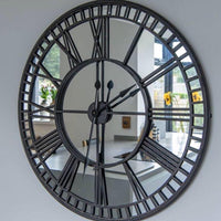 Iron Mirrored Wall Clock 106cm