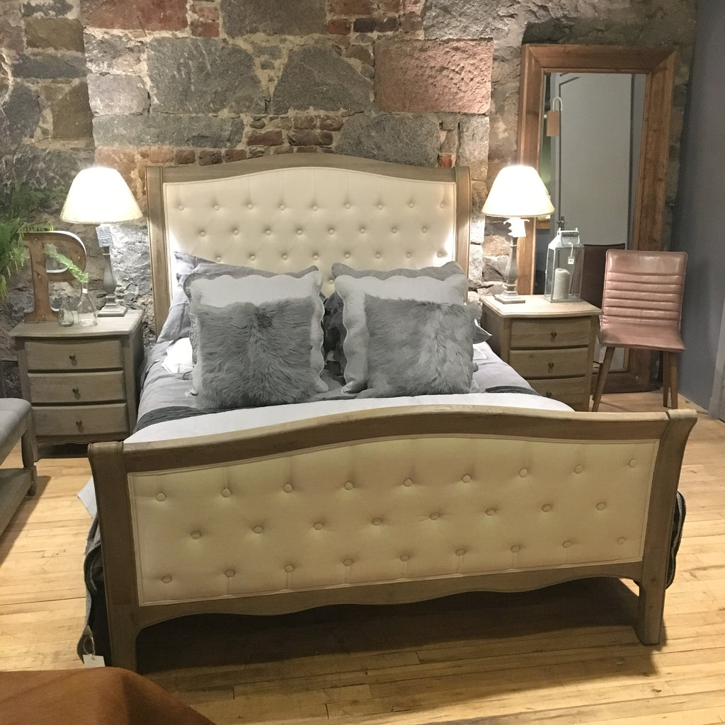 Lille Limed Oak High Foot End Beds