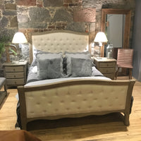 Lille Limed Oak High Foot End Bed - Ex Display