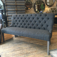 Buttoned Back Bench - Harris Tweed