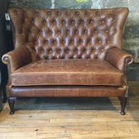 Winged Buttoned Back - 2 Seat Sofa