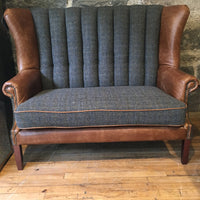 Fluted Back Winged sofa