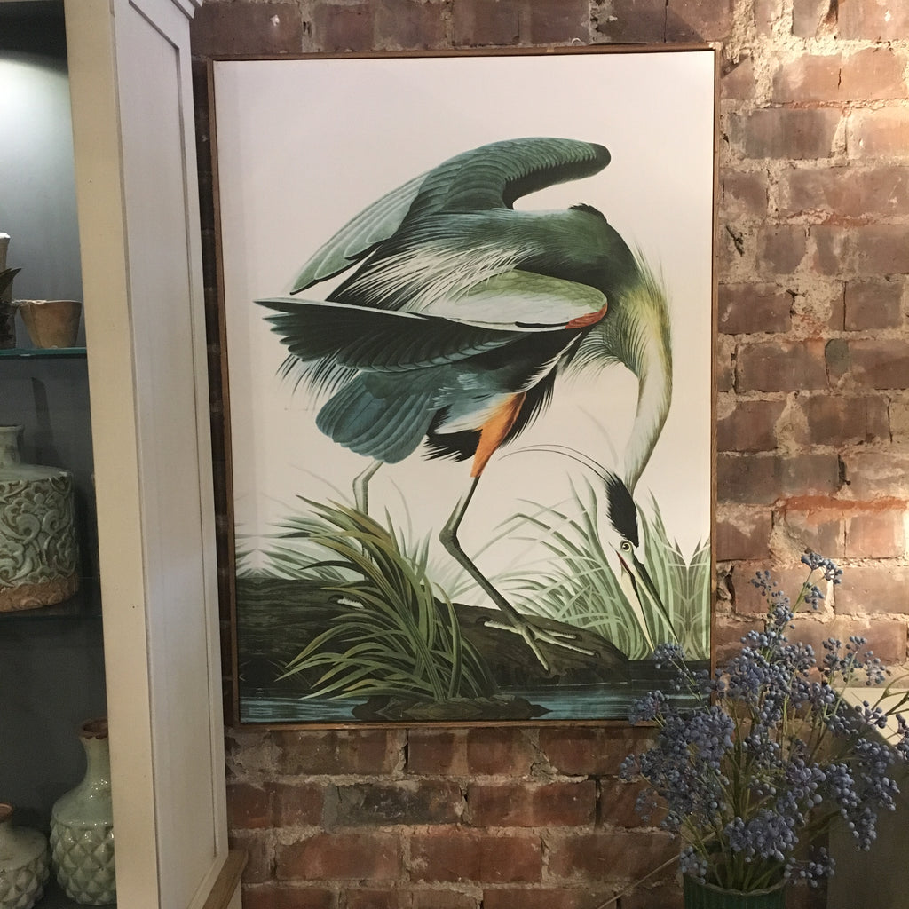 Large Green Tropical Crane Picture | Annie Mo's