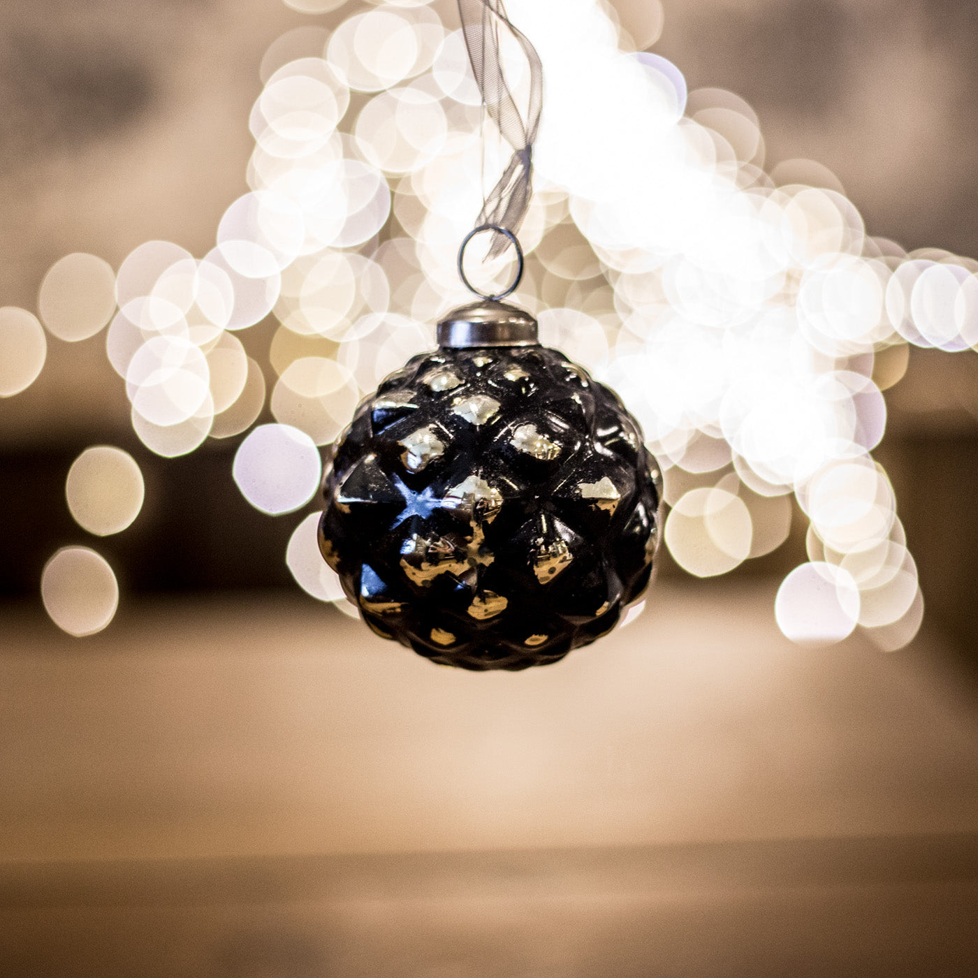 black gold christmas balls small annie mos - Black And Gold Christmas Ornaments