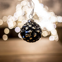 Black Gold Christmas Balls - Small | Annie Mo's