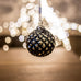 Black Gold Christmas Balls - Medium | Annie Mo's